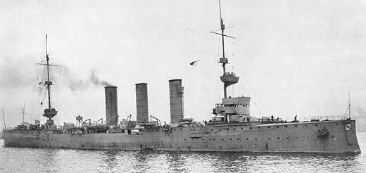 Германский крейсер Аугсбург