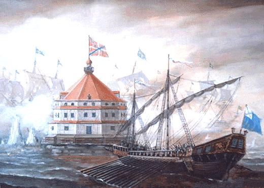 Отражение атаки шведских кораблей на Кроншлот в июле 1704 года