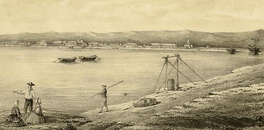 Порт Охотска 1856 год