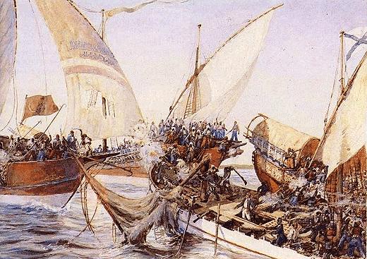 Подвиг русских моряков